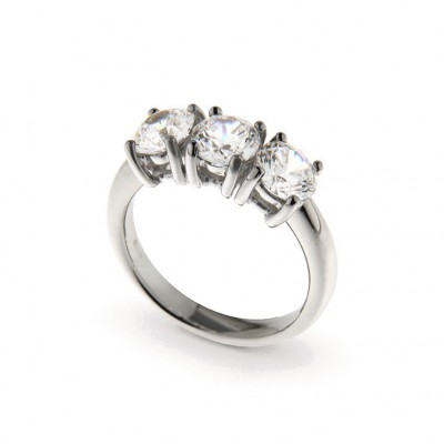 Trilogy In Argento 925 E Cubic Zirconia