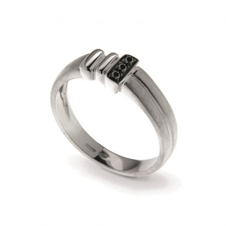 Men's Ring in Silver 925 and Cubic Zirconia