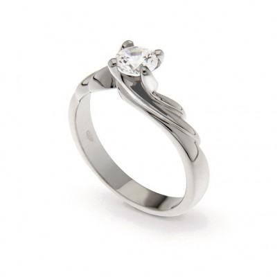 Engagement Ring in Silver 925 and Cubic Zirconia