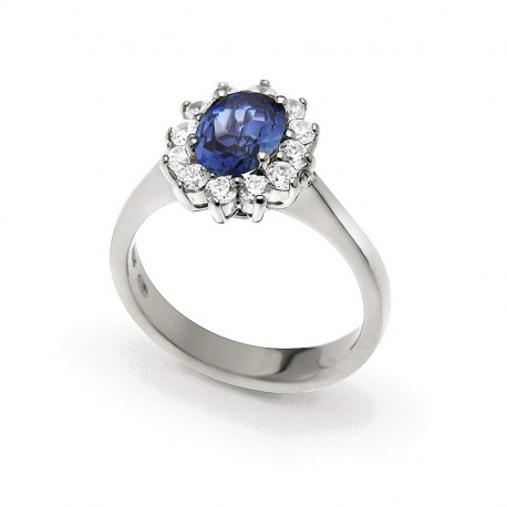 Band Ring in Silver 925 and Cubic Zirconia