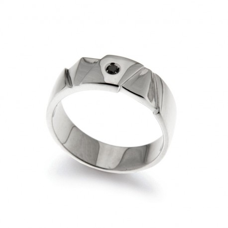 Men's Ring in Silver 925 E Diamante