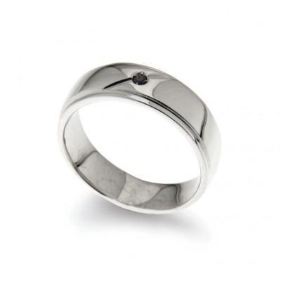 Men's Ring in Silver 925 E Diamante