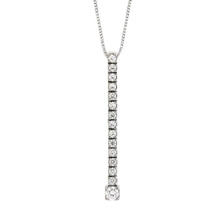 Tennis Pendant in Silver 925 and Cubic Zirconia with a 42 cm Chain